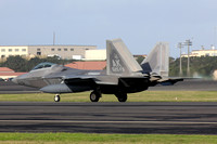 USAF 3rd Wing 525th Fighter Squadron Lockheed F-22A 06-4115/AK at Lajes (2013)