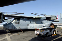 USMC VMM-365 Bell-Boeing MV-22B Osprey 166690 on board USS New York in Marseille Harbour (2015)
