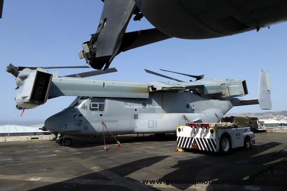 The Aviation Photo Company: Latest Additions &emdash; USMC VMM-365 Bell-Boeing MV-22B Osprey 166731 on board USS New York in Marseille Harbour (2015)
