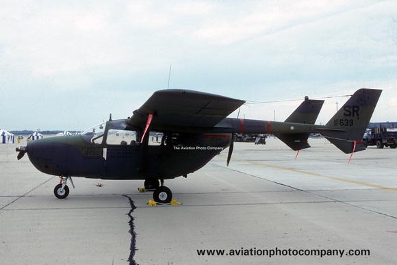 The Aviation Photo Company: O-2 Skymaster (Cessna) &emdash; USAF 21 TASS Cessna O-2A 69-7639 (1985)