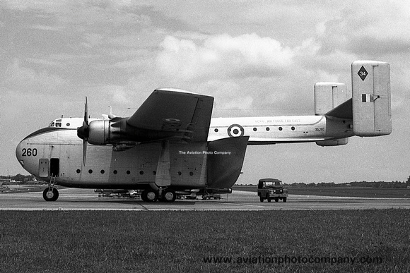The Aviation Photo Company: Beverley (Blackburn) &emdash; RAF 34 Squadron Blackburn Beverley C.1 XB260 at RAF Tengah (1966)