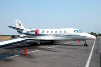 Prince Aviation Cessna 560 YU-SPB at Batajnica (2012)