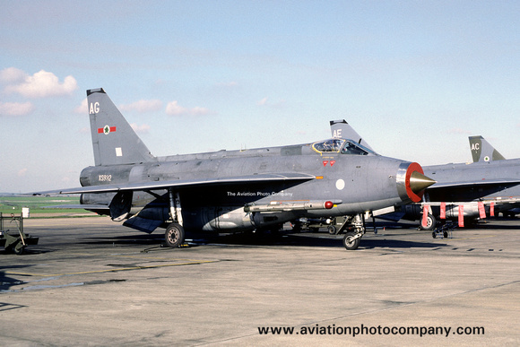 The Aviation Photo Company: 5 Squadron &emdash; RAF 5 Squadron English Electric Lightning F.6 XS932/AG (1987)