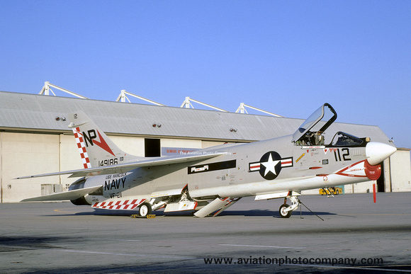 The Aviation Photo Company: F-8 Crusader (Chance/Vought) &emdash; US Navy VF-211 Chance F-8J Crusader 149186/NP-112 (1971)