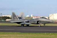 USAF 49 FW Lockheed F-22A 04-4081/HO at Lajes (2013)
