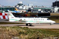 Irish Air Corps Learjet 45 158 at Manchester (2013)