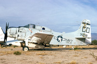 US Navy VAQ-33 Douglas EA-1F 135018/GD-703 at the Pima County Museum (1975)