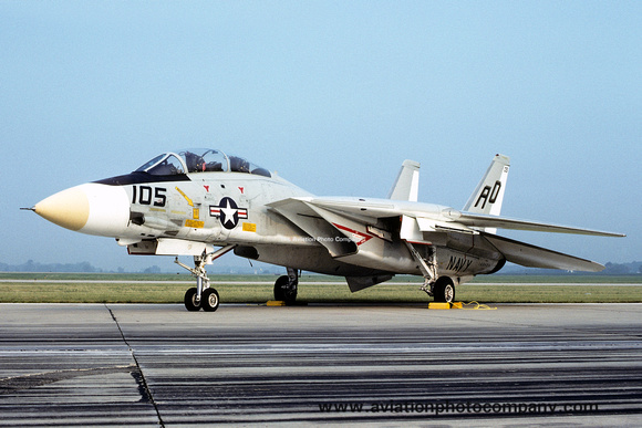The Aviation Photo Company: Latest Additions &emdash; USN VF-101 Grumman F-14A Tomcat 160408/AD-105 (1978)