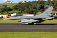 Egyptian Air Force GD F-16C 9758 on delivery through Lajes (2015)