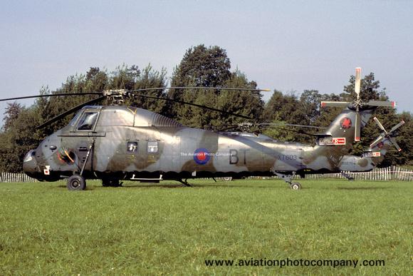 The Aviation Photo Company: Latest Additions &emdash; RAF 18 Squadron Westland Wessex HC.2 XT603/BT (1979)