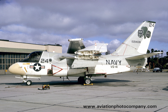 The Aviation Photo Company: S-3 Viking (Lockheed) &emdash; USN VS-41 Lockheed S-3A Viking 159408/RA24 (1975)