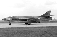 RAF 20 Squadron Hawker Hunter FGA.9 XE610/C at RAF Tengah (1966)