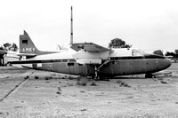 Ex CAA Hunting Prince G-AMKY stored at Stansted (1977)