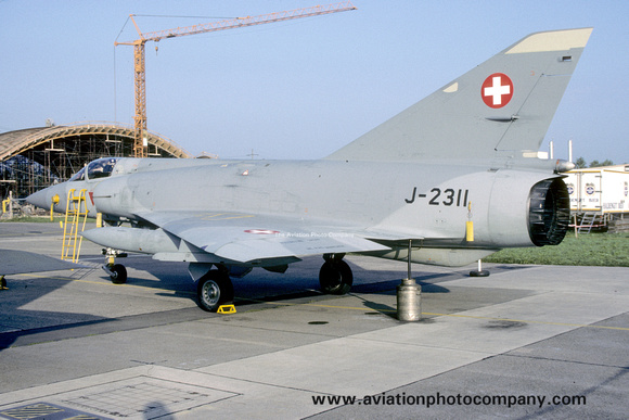 The Aviation Photo Company: Latest Additions &emdash; Swiss Air Force Dassault Mirage 3S J-2311 (1987)