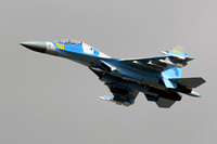 "Kazakhstan Air Force Sukhoi Su-27UB ""50"" at KADEX 2012 Almaty"