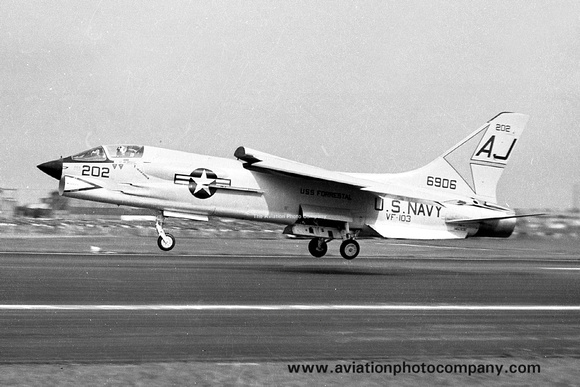 The Aviation Photo Company: F-8 Crusader (Chance/Vought) &emdash; USN VF-103 Chance Vought F-8C 146906/AJ202