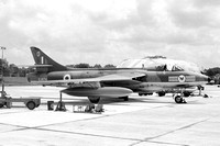 RAF 20 Squadron Hawker Hunter FGA.9 XJ674/O at RAF Tengah (08.08.1966)