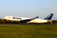 Air Blue Airbus A340-300 AP-EDE at Manchester (2013)