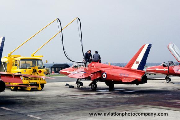 The Aviation Photo Company: Latest Additions &emdash; RAF Red Arrows Folland Gnat T.1 XP531 (1972)