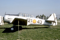 Spanish Air Force North American T-6G Texan C6-125/421-43 at the Spanish Air Force Museum (1987)