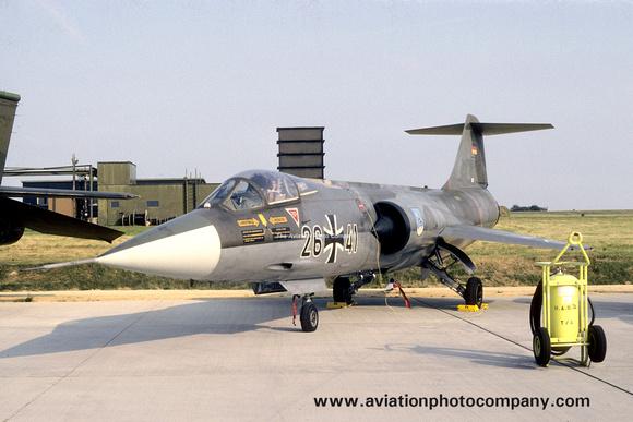 The Aviation Photo Company: Latest Additions &emdash; West German Air Force JBG34 Lockheed F-104G Starfighter 26+41 (1987)