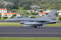 Egyptian Air Force GD F-16C 9764 on delivery through Lajes (2015)