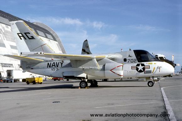 The Aviation Photo Company: S-3 Viking (Lockheed) &emdash; US Navy VS-31 Lockheed S-3A Viking 159759/AG702 at Moffett Field (1981)