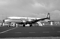 Cunard Eagle Airways Douglas DC-6 G-ARWJ at Newcastle Woolsington (1962)