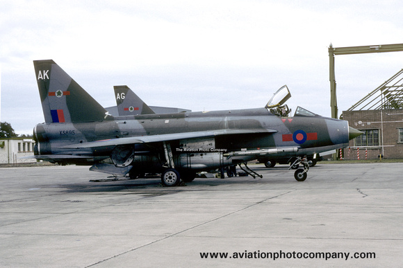 The Aviation Photo Company: 5 Squadron &emdash; RAF 5 Squadron English Electric Lightning F.6 XS895/AK at RAF Lossiemouth (1983)