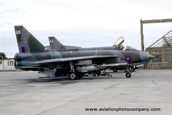 The Aviation Photo Company: 5 Squadron &emdash; RAF 5 Squadron English Electric Lightning F.6 XS895/AK at RAF Lossiemouth (1983)