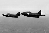 US Navy Grumman F-9B 122563 and 122587