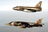 RA 4 Squadron HS Harrier GR.3 XZ191 with a 92 Squadron English Electric Lightning F.2 XZ191