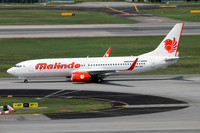 Malindo Air Boeing 737-800 9M-LNQ at Singapore IAP (2016)