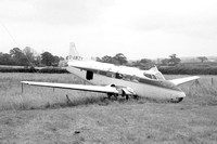 De Havilland Dove G-AMZY derelict at Exeter (1978)