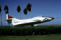 US Navy Grumman F-9 displayed at Corpus Christi (1978)