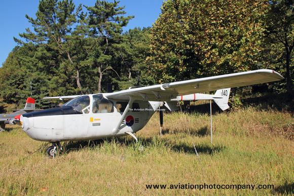 The Aviation Photo Company: O-2 Skymaster (Cessna) &emdash; South Korean Air Force Cessna O-2A Skymaster 11-140 preserved at Seongmu (2015)