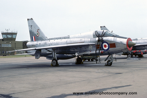 The Aviation Photo Company: 5 Squadron &emdash; RAF 5 Squadron English Electric Lightning T.5 XV328/T (1975)