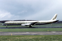 Evergreen International Douglas DC-8-73 N4864T at Prestwick (1983)