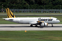 Tiger Airways Airbus A320-200 9V-TRJ at Singapore IAP (2015)