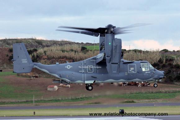 The Aviation Photo Company: Latest Additions &emdash; USAF 352 SOG 7 SOS Bell-Boeing CV-22B Osprey 11-0059 at Lajes (2013)