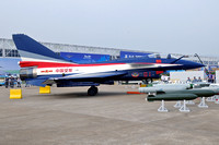 Chinese AF August 1st Team Chengdu J-10SY 01 at the Zhuhai Airshow (2014)