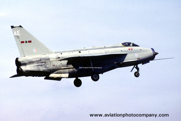 The Aviation Photo Company: 5 Squadron &emdash; RAF 5 Squadron English Electric Lightning F.6 XR763/AE (1983)