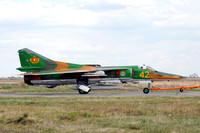 "Kazakhstan Air Force Mikoyan MiG-27K ""42"" at KADEX 2012 Almaty"