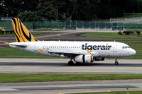 Tiger Airways Airbus A319-100 9V-TRB at Singapore IAP (2015)