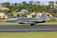 USAF 3 WG Lockheed F-22A 07-4150/AK at Lajes (2013)