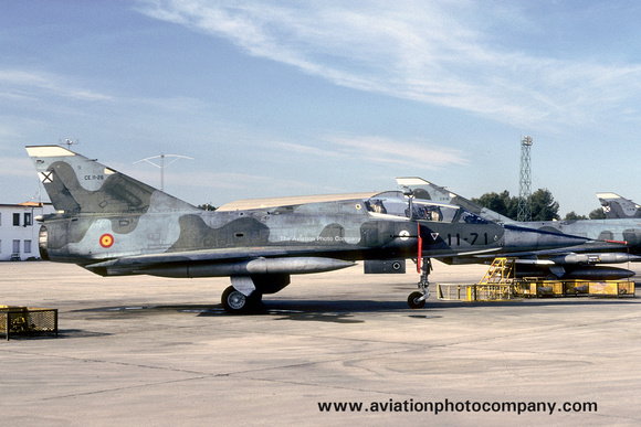 The Aviation Photo Company: Latest Additions &emdash; Spanish Air Force Ala 11 Dassault Mirage 3BE CE.11-26/11-71 (1989)