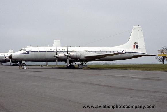 The Aviation Photo Company: Latest Additions &emdash; RAF Bristol Britannia C.1 XM498 Stored at Kemble (1976)