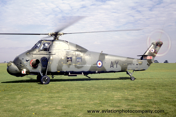 The Aviation Photo Company: Latest Additions &emdash; RAF 72 Squadron Westland Wessex HC.2 XT674/AY (1971)