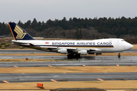 Singapore Airlines Cargo Boeing 747-400F 9V-SFM at Tokyo Narita (2015)