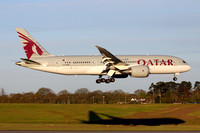 Qatar Airways Boeing 787-8 A7-BCM at Birmingham IAP (2016)